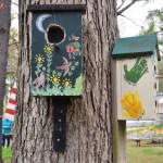 Bird boxes on a tree