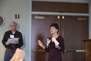 Image of Judith explaining the seed sharing