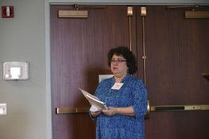 Image of Dina outlining this year's programs