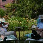 Members enjoying John and Lucy's lounge chairs