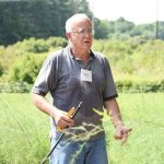 Garry explains his irrigation system